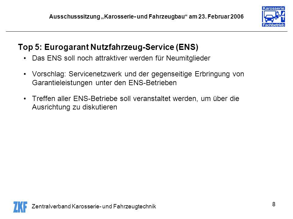 Zentralverband Karosserie- und Fahrzeugtechnik 8 Ausschusssitzung Karosserie- und Fahrzeugbau am 23.