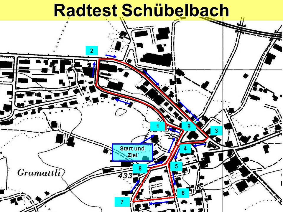 Kiesplatz Grünhaldenstrasse Radtest Schübelbach / Posten 1 Linkssabbiegen Blick zurück / Zeichengabe / Einspuren / Vortritt!