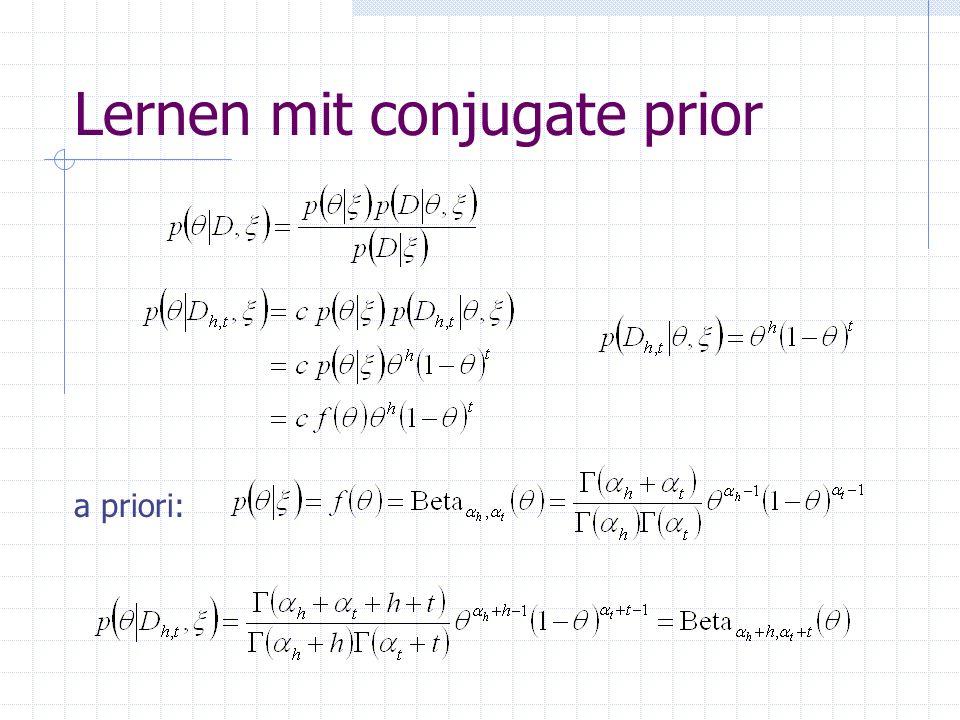 Lernen mit conjugate prior a priori: