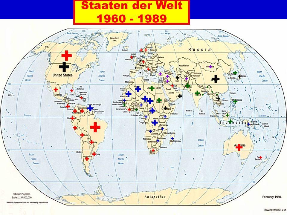Staaten der Welt 1960 - 1989 + + ++ + + + + + + + + + + + + + + + ++ + + + + + + ++ + + + + + + + + + + + + + + + + + + + + + + + + + + + + + + + + + + + + + + + + + +