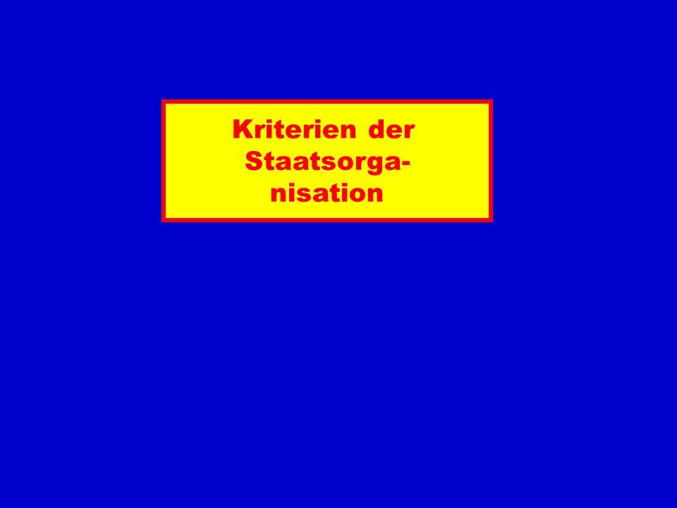 Kriterien der Staatsorga- nisation