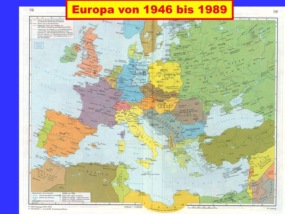 Europa von 1946 bis 1989