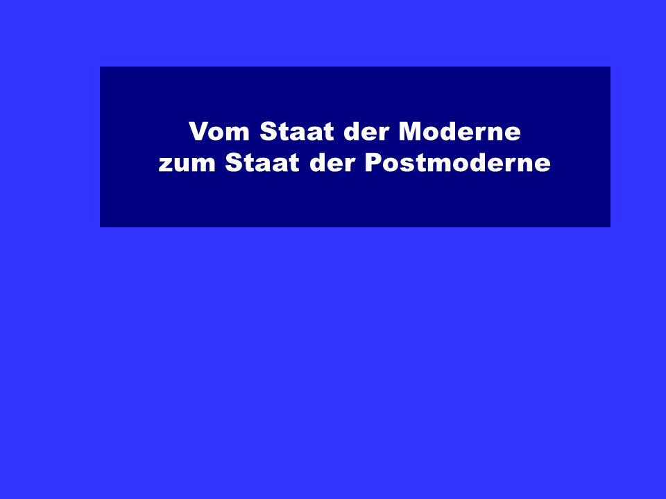 Vom Staat der Moderne zum Staat der Postmoderne