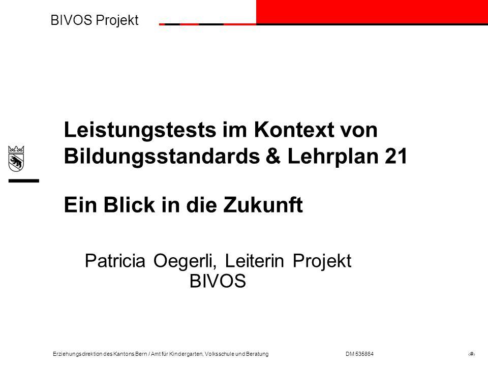 BIVOS Projekt Erziehungsdirektion des Kantons Bern / Amt für Kindergarten, Volksschule und BeratungDM 535864 # Sek I – Sek II: Von der Schnittstelle zur Nahtstelle