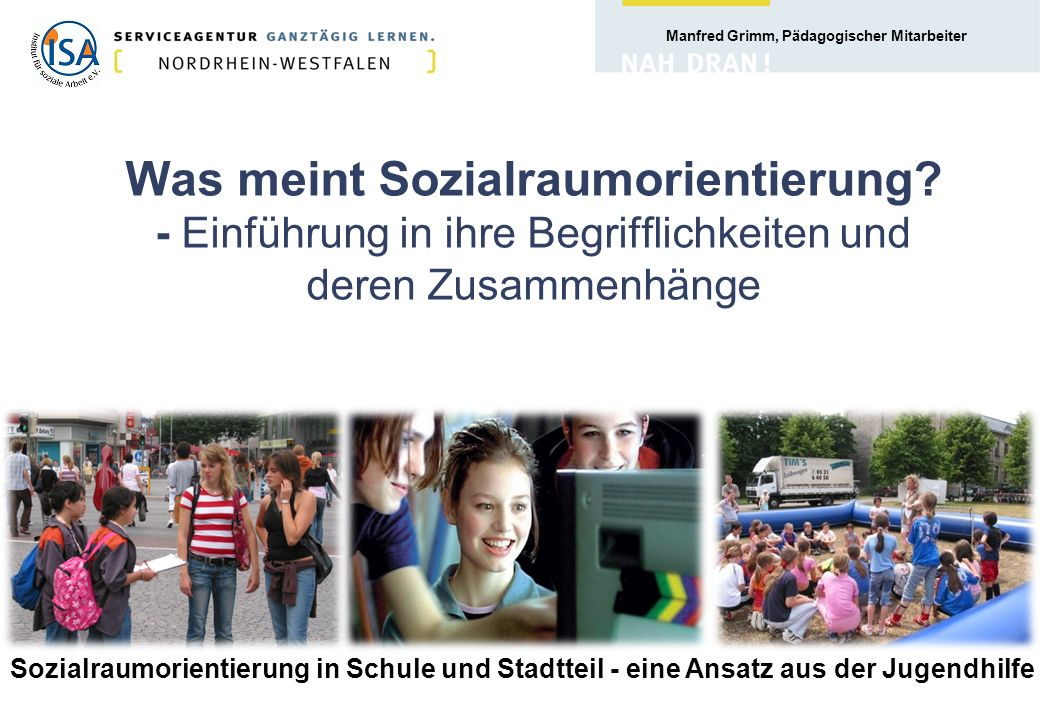 Manfred Grimm, Pädagogischer Mitarbeiter 78. Bezirk z.B. Sieker-Mitte in Bielefeld