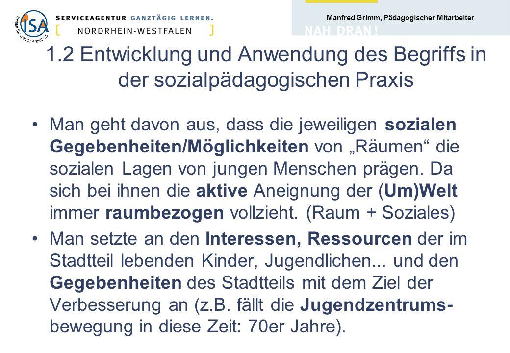 Manfred Grimm, Pädagogischer Mitarbeiter 78. Bezirk: Stadtteilbüro: Quartiersmanagement