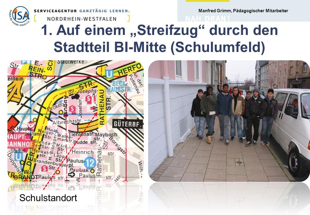 Manfred Grimm, Pädagogischer Mitarbeiter 3.1 Zusammenhang von Lebenswelt und Sozialraum Nach G.
