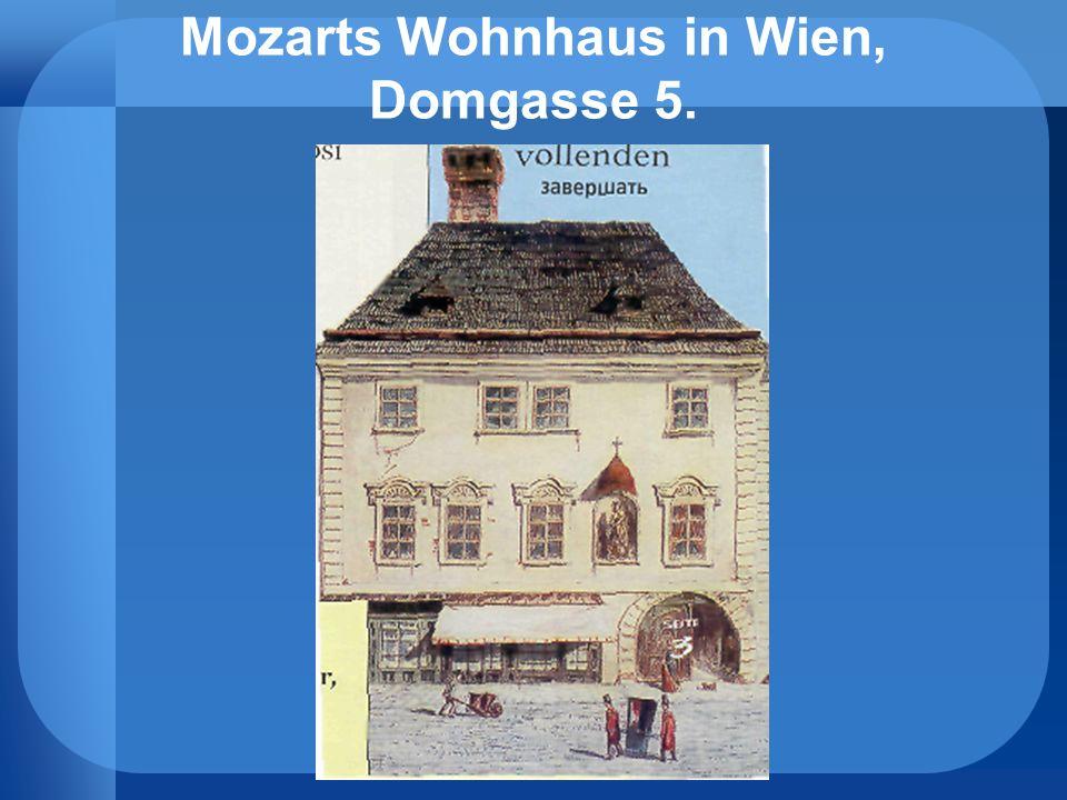 Mozarts Wohnhaus in Wien, Domgasse 5.