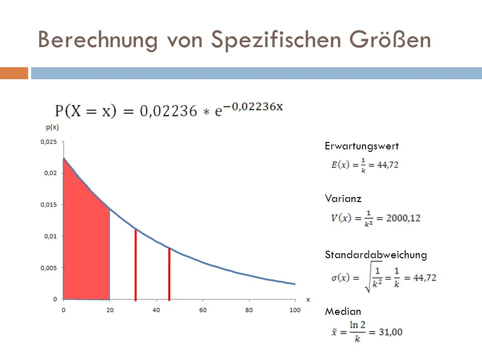 Berechnung von Spezifischen Größen Erwartungswert Varianz Standardabweichung Median
