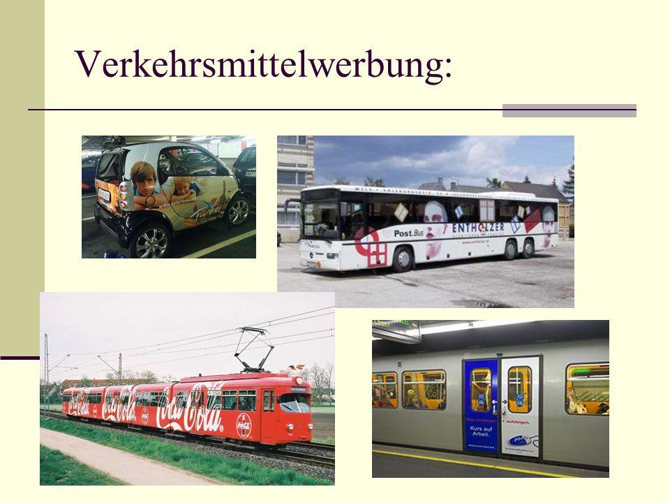 Verkehrsmittelwerbung: