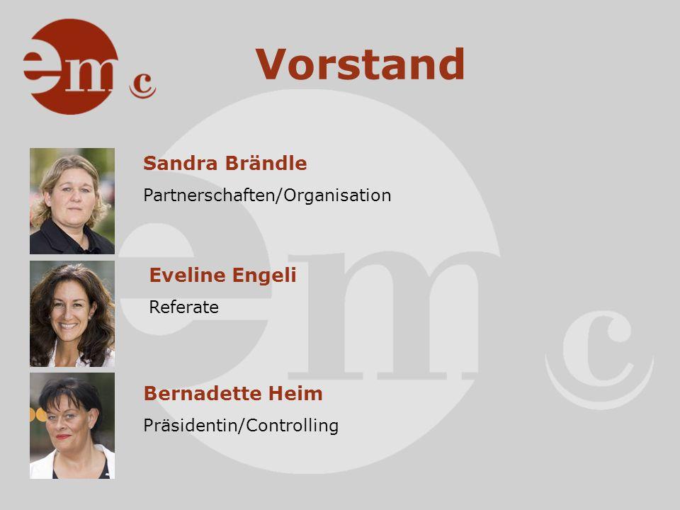 Vorstand Martina Knobel Locations Doris Widmer PR/Kommunikation Aktuarin Jean-Marc Thorens Sponsoring Marianne Zahnd Vize-Präsidentin Sekretariat & Website