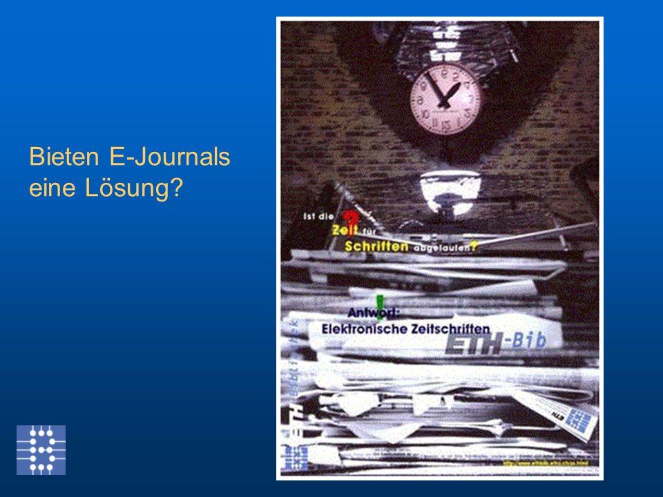 Bieten E-Journals eine Lösung?