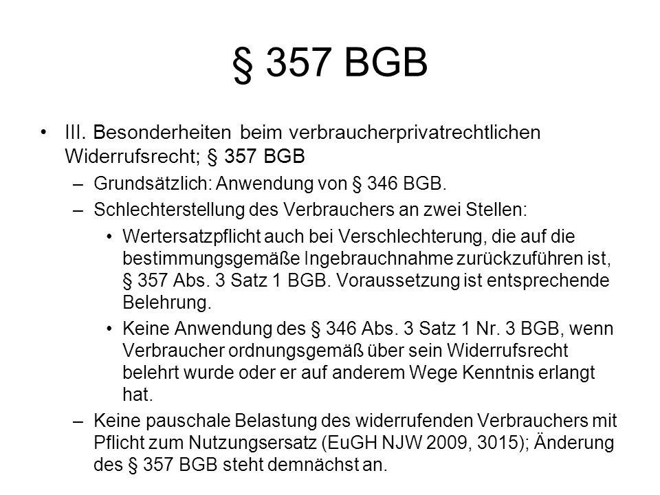 § 357 BGB III.