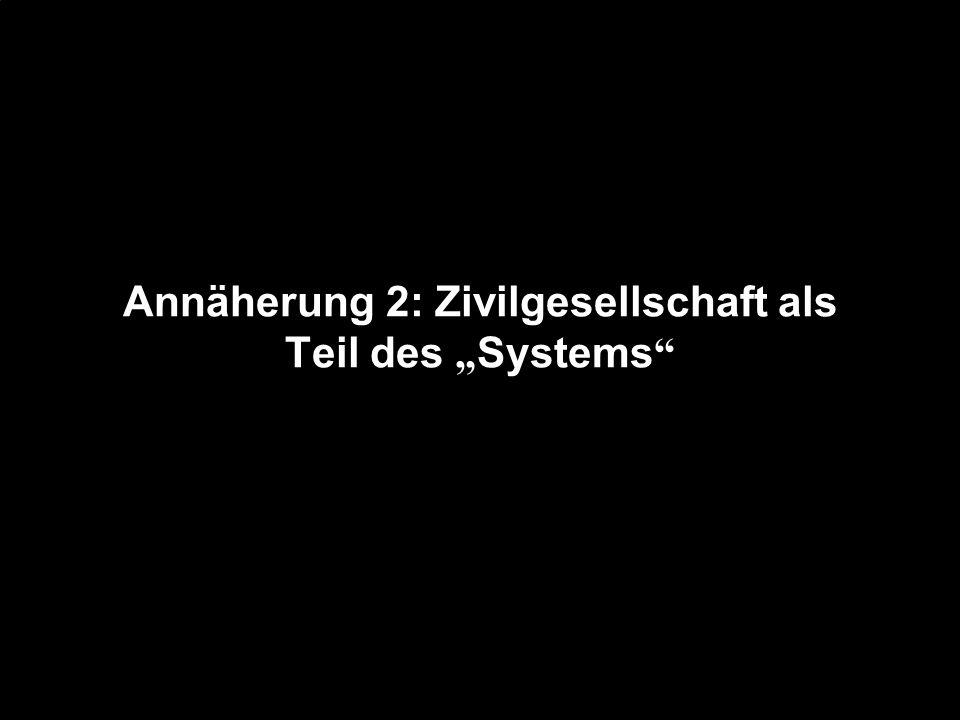 Annäherung 2: Zivilgesellschaft als Teil des Systems