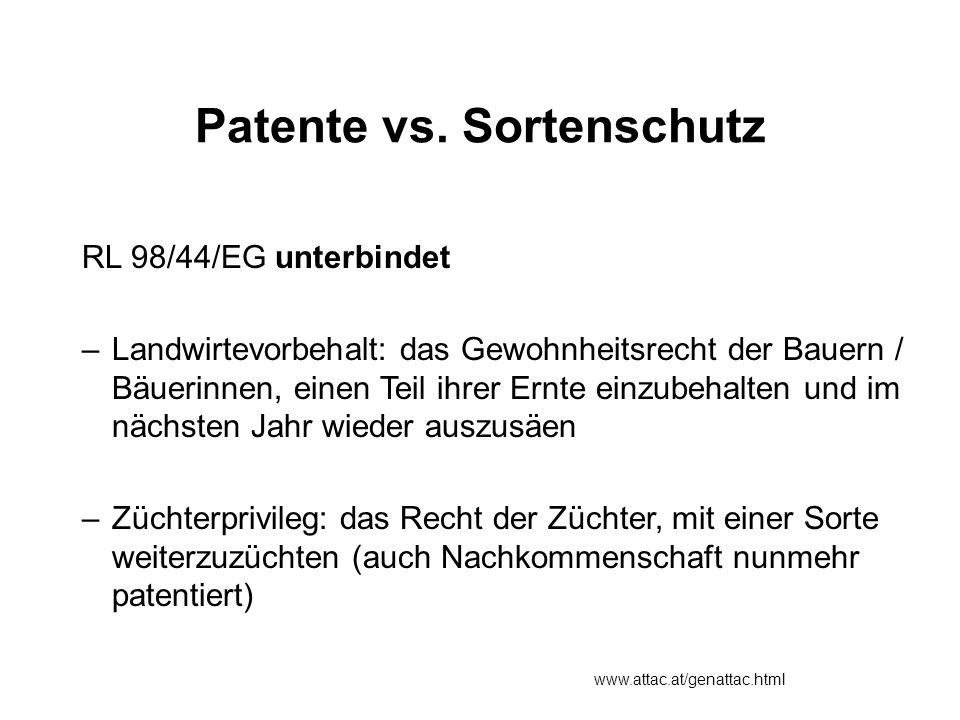 Patente vs.