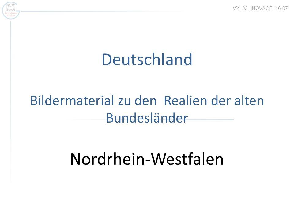 Nordrhein-Westfalen Autor:Wolfgang Pagenstecher, Název:Coat of arms of North Rhine-Westfalia.svg Zdroj:http://commons.wikimedia.org/wiki/File:Coat_of_arms_of_North_Rhine-Westfalia.svg Landeshauptstadt - Düsseldorf Einwohnerzahl – 17,5 Mio.