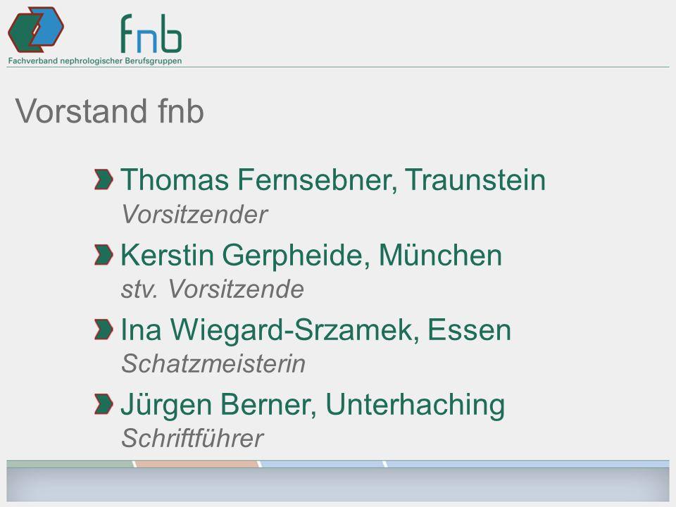 Vorstand fnb Thomas Fernsebner, Traunstein Vorsitzender Kerstin Gerpheide, München stv.