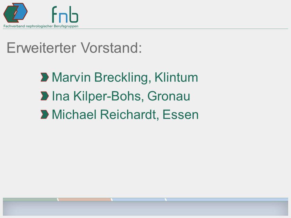 Erweiterter Vorstand: Marvin Breckling, Klintum Ina Kilper-Bohs, Gronau Michael Reichardt, Essen