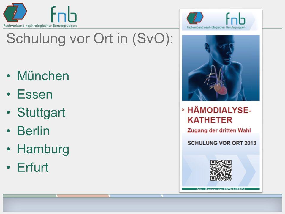 Schulung vor Ort in (SvO): München Essen Stuttgart Berlin Hamburg Erfurt