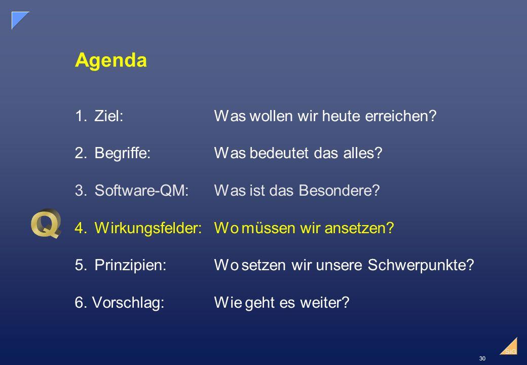 30 SiG Agenda 1.Ziel:Was wollen wir heute erreichen.