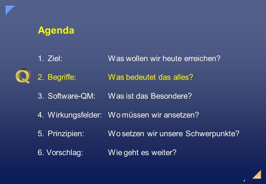 4 SiG Agenda 1.Ziel:Was wollen wir heute erreichen.