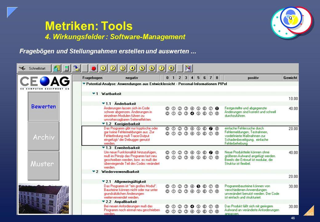 46 SiG Metriken: Tools 4.