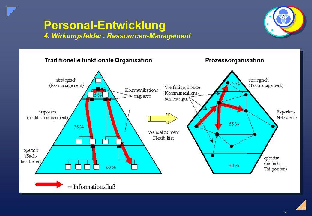 65 SiG Traditionelle funktionale OrganisationProzessorganisation Personal-Entwicklung 4.