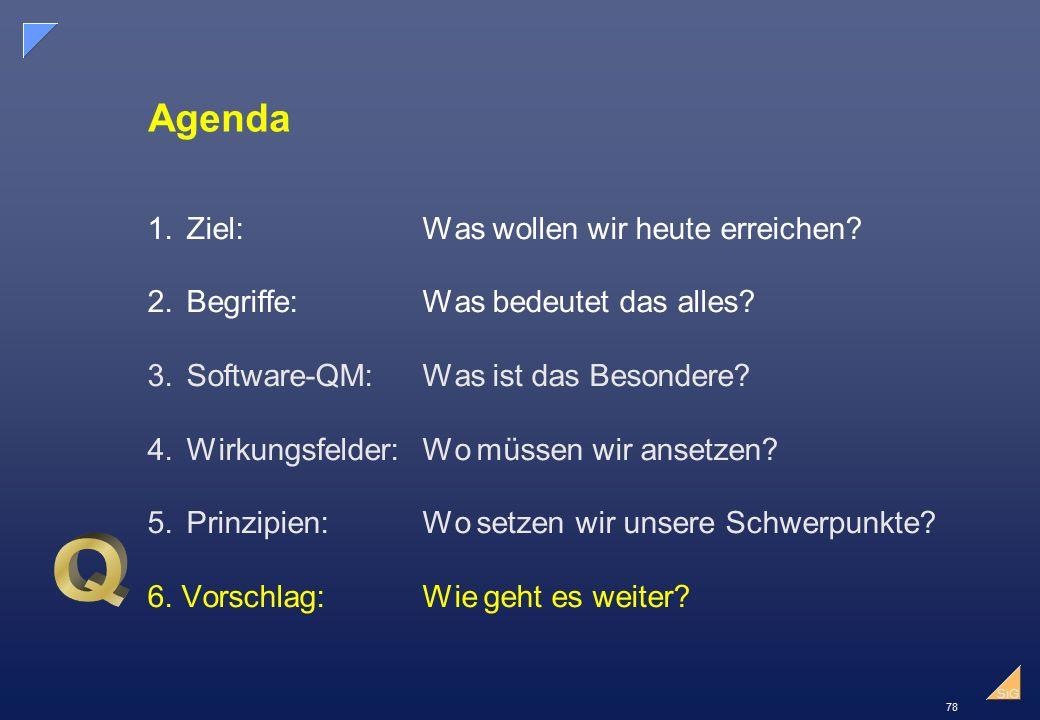 78 SiG Agenda 1.Ziel:Was wollen wir heute erreichen.