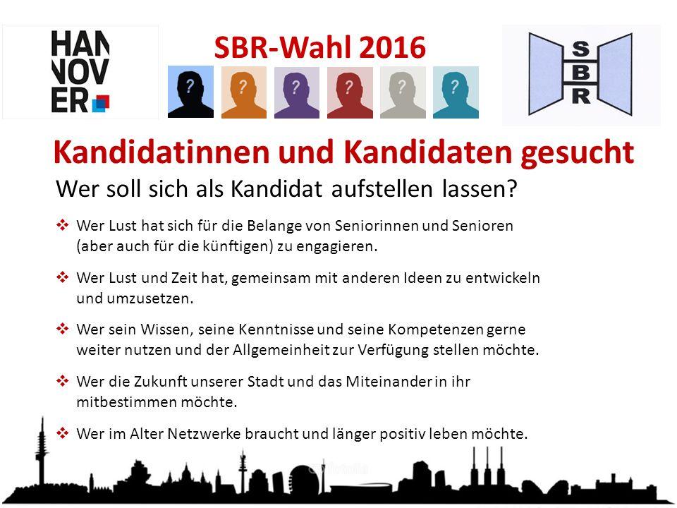 SBR-Wahl 2016 Wer soll sich als Kandidat aufstellen lassen.