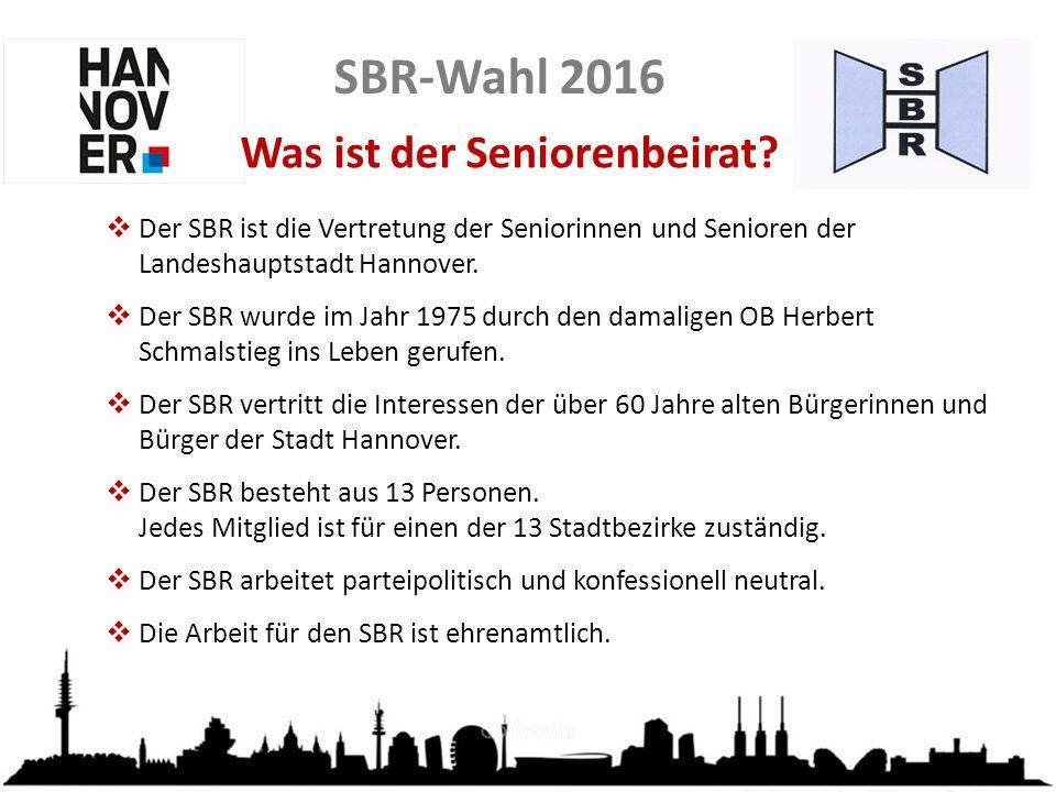 SBR-Wahl 2016 Wen vertritt der SBR.