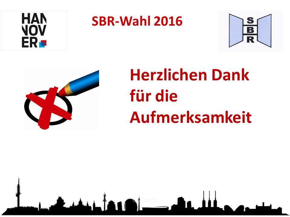 SBR-Wahl 2016 Herzlichen Dank für die Aufmerksamkeit