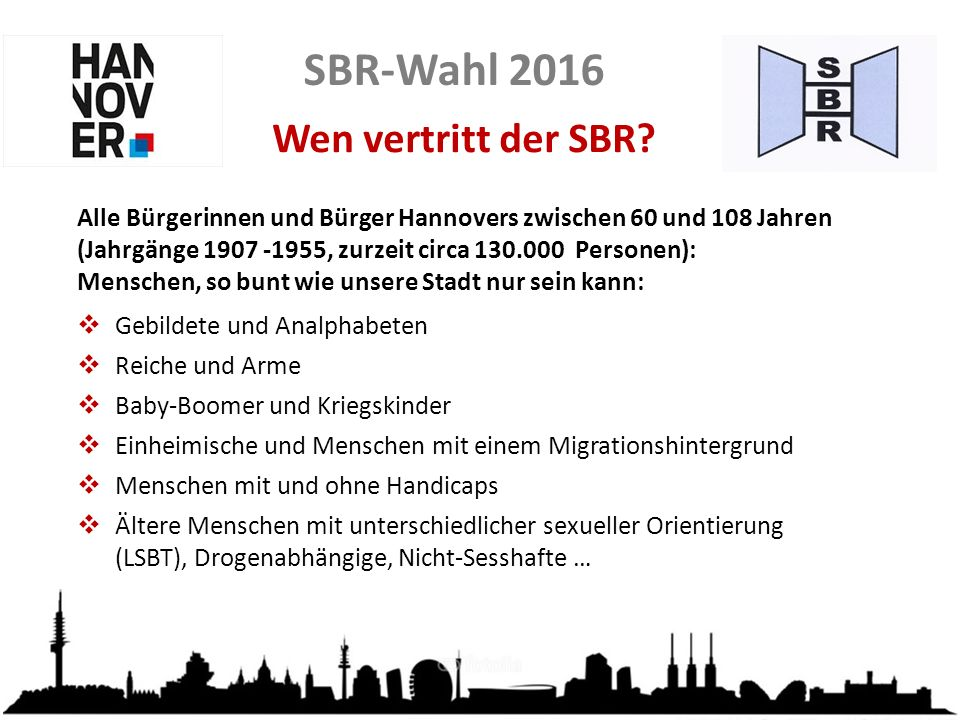 SBR-Wahl 2016 Grundsätze der Delegiertenwahl  Alle 5 Jahre werden die 200 Delegierten für den SBR aufgrund von Wahlvorschlägen per Briefwahl gewählt.