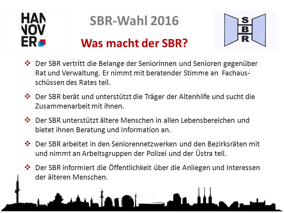 SBR-Wahl 2016 Was macht der SBR.