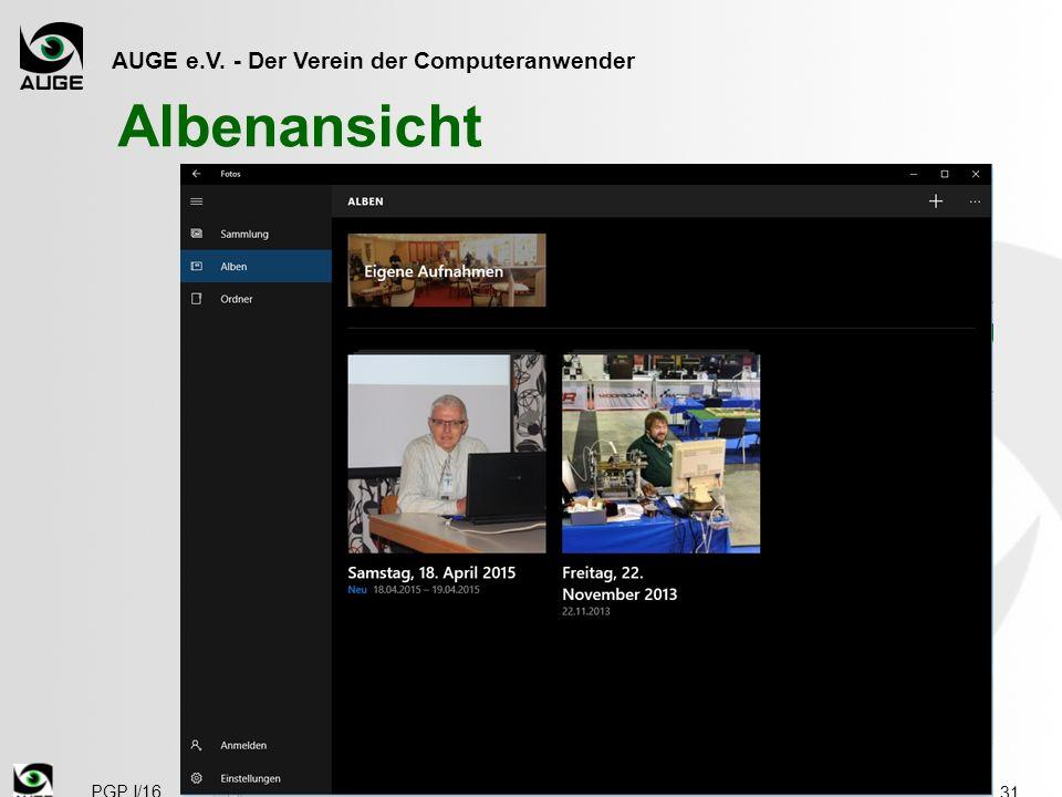 AUGE e.V. - Der Verein der Computeranwender Albenansicht 31 PGP I/16