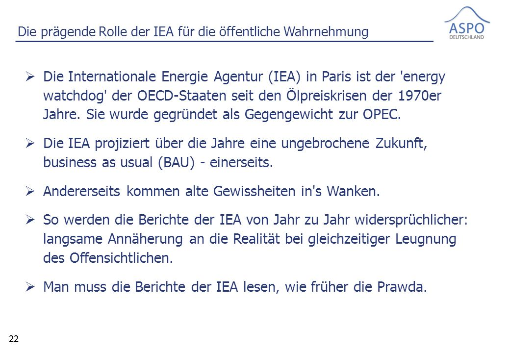 23 World Energy Outlook 1998 der IEA – Oil Supply Profiles