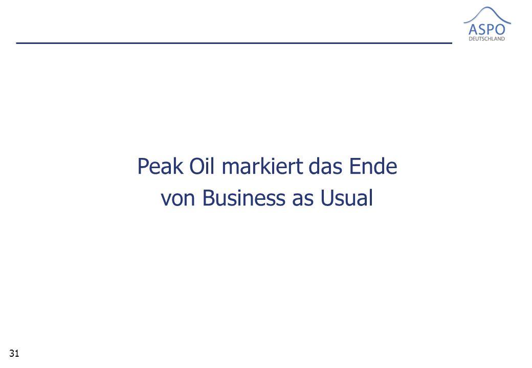 31 Peak Oil markiert das Ende von Business as Usual