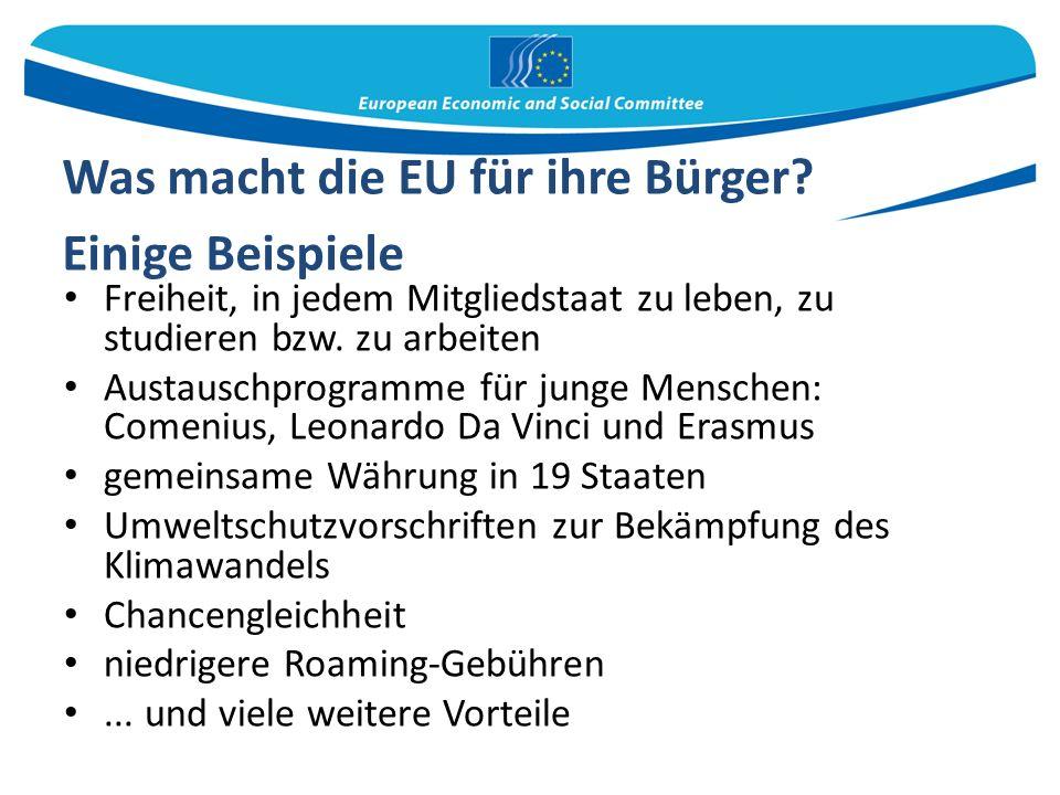Was macht die EU für ihre Bürger.