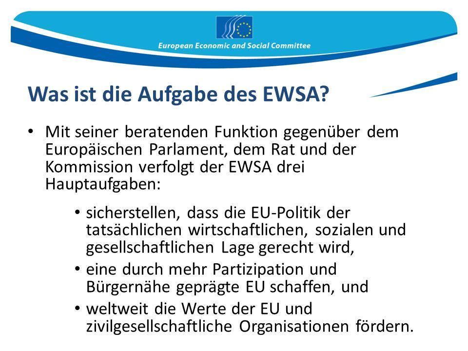 Was ist die Aufgabe des EWSA.