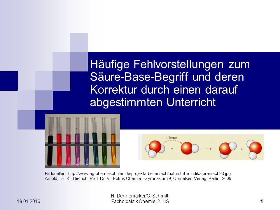 19.01.2016 N. Dennemärker/C. Schmitt; Fachdidaktik Chemie; 2.