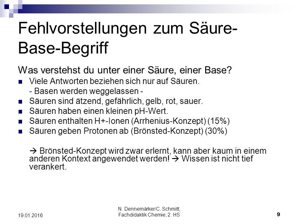 N.Dennemärker/C. Schmitt; Fachdidaktik Chemie; 2.