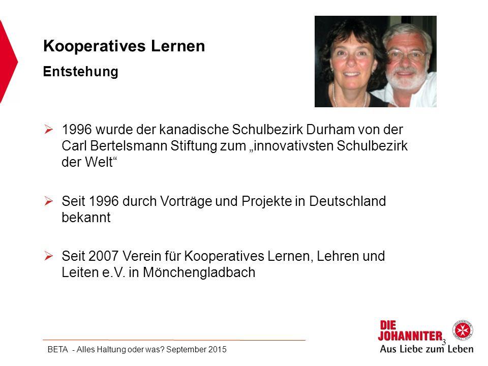 """ 1996 wurde der kanadische Schulbezirk Durham von der Carl Bertelsmann Stiftung zum """"innovativsten Schulbezirk der Welt""""  Seit 1996 durch Vorträge u"""