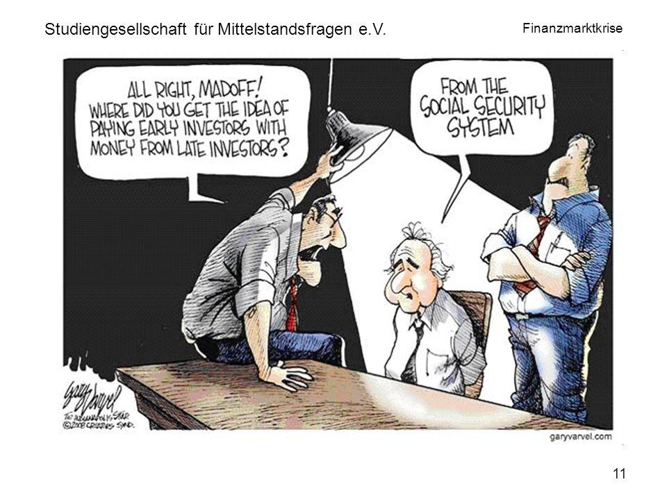 Finanzmarktkrise www.privatinvestor.de Studiengesellschaft für Mittelstandsfragen e.V. 11