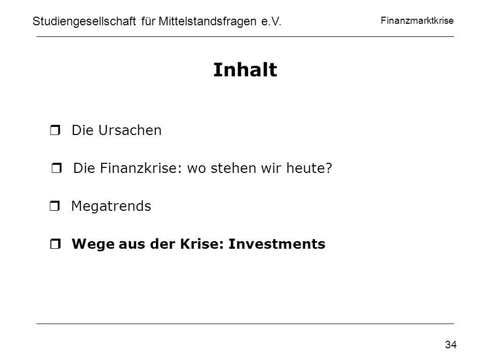 Finanzmarktkrise www.privatinvestor.de Studiengesellschaft für Mittelstandsfragen e.V.