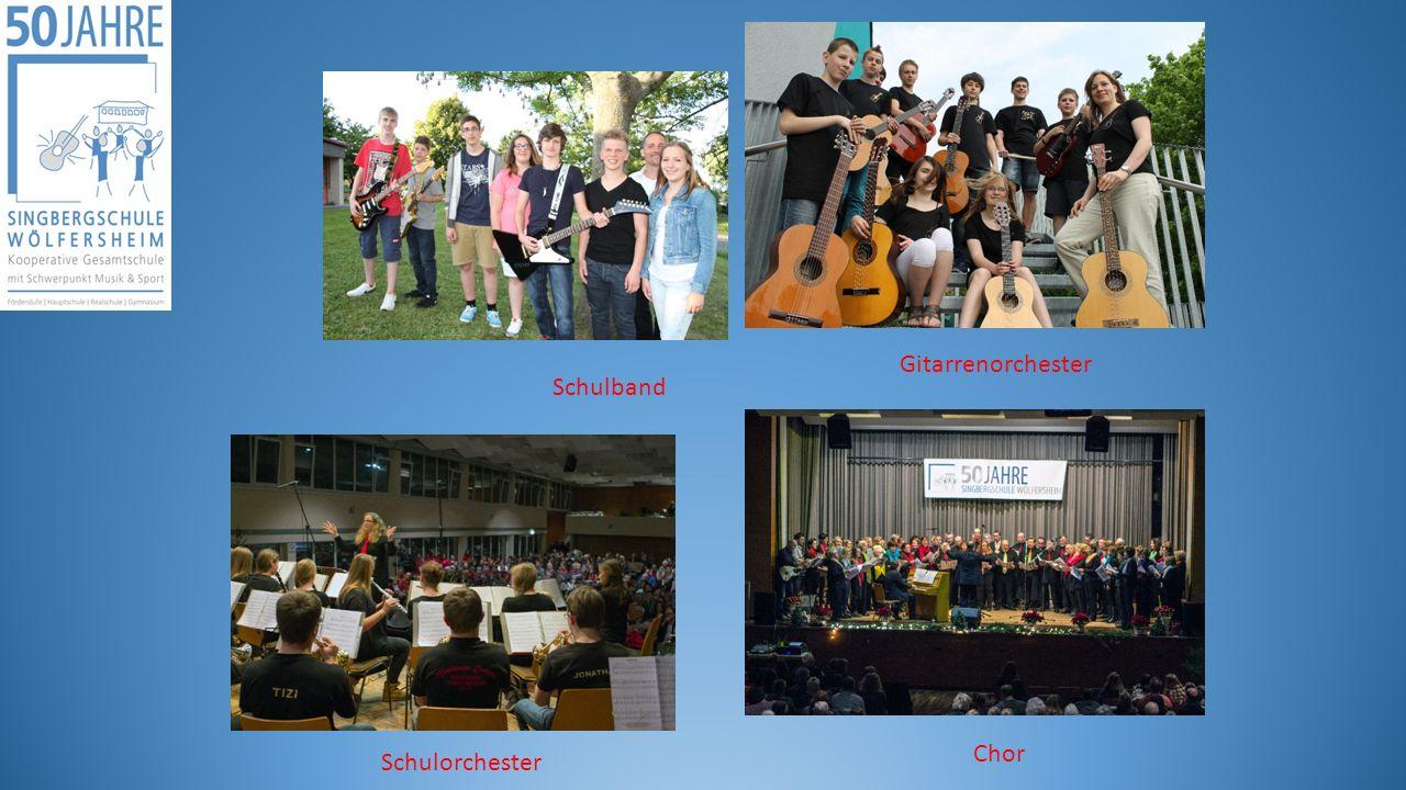 Gitarrenorchester Schulband Schulorchester Chor