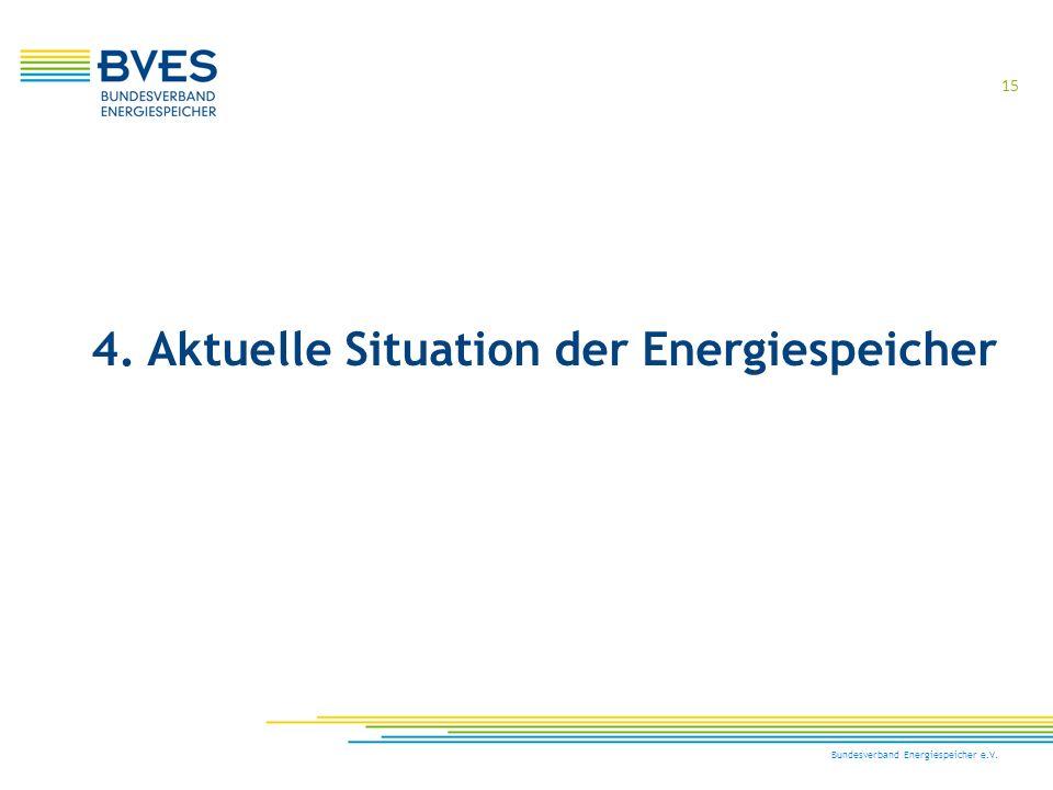 15 Bundesverband Energiespeicher e.V. 4. Aktuelle Situation der Energiespeicher