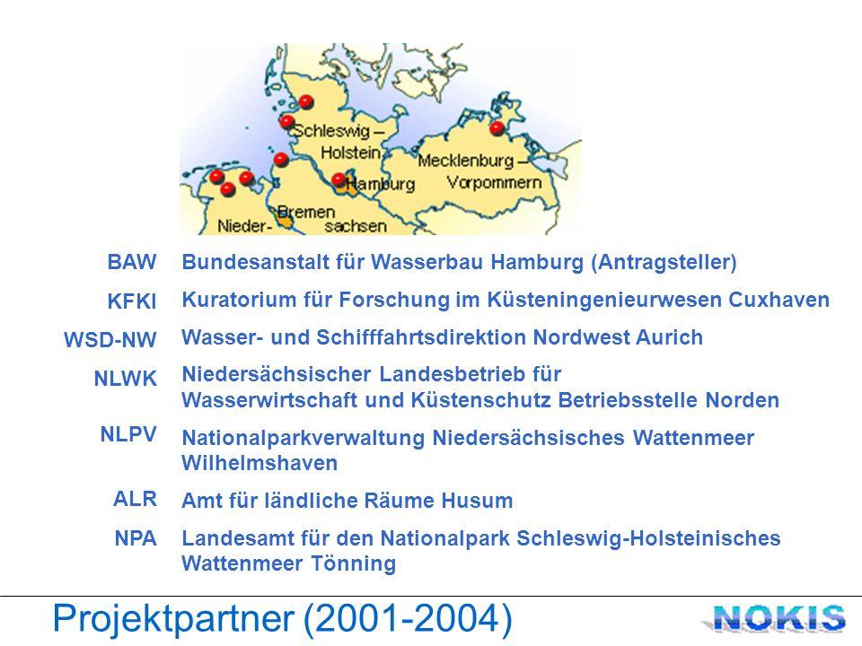 NOKIS Konzept Die Küste Bücherei Projekte Daten mdb zentraler Server @ BAW Kuratorium für Forschung im Küsteningenieurwesen Daten + Metadaten Partner - Institutionen