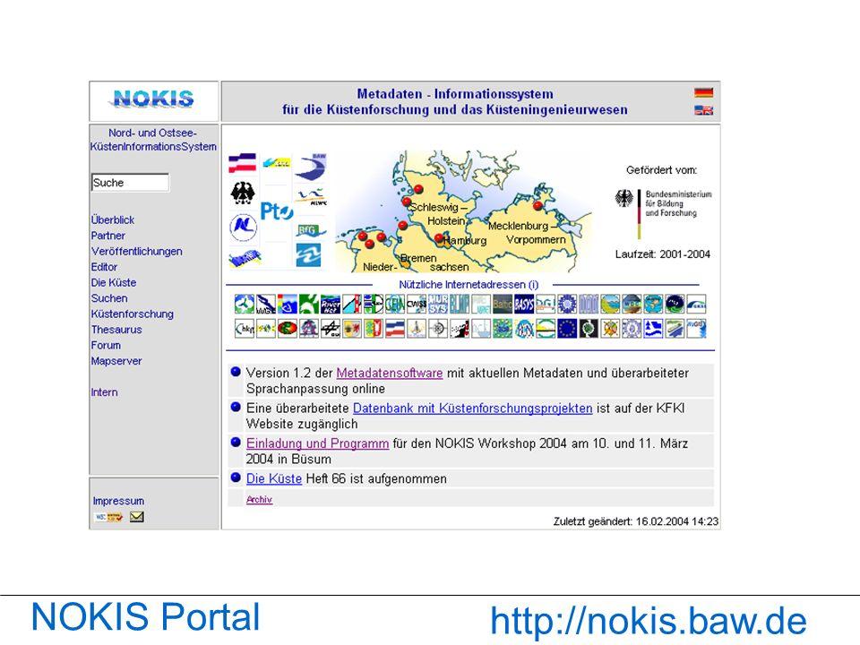 NOKIS-Portal NOKIS Portal http://nokis.baw.de