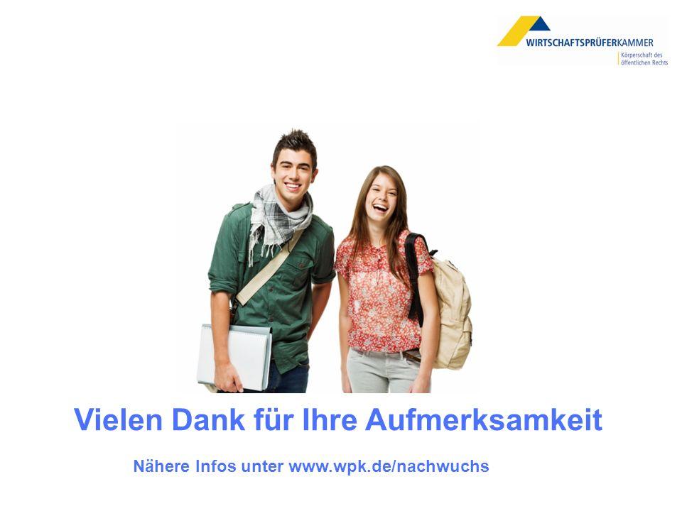 Nähere Infos unter www.wpk.de/nachwuchs Vielen Dank für Ihre Aufmerksamkeit