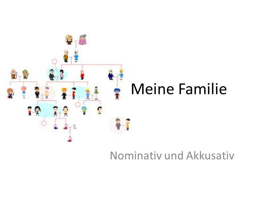 Meine Familie Nominativ und Akkusativ