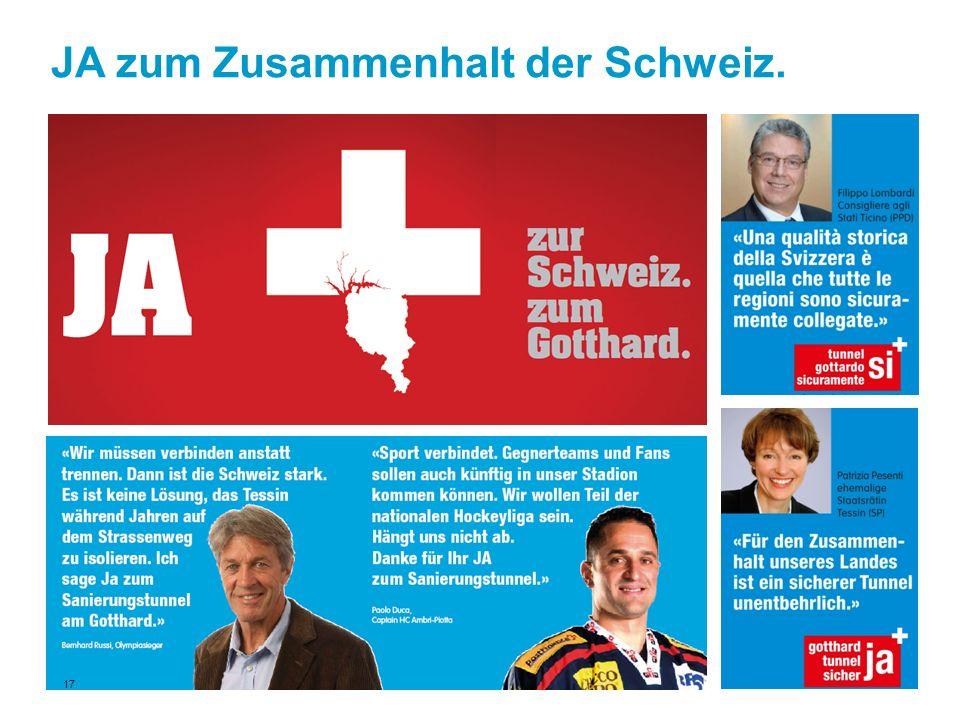 JA zum Zusammenhalt der Schweiz. 17